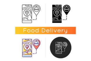 Print on Demand: Real-time Order Tracking Icon Graphic Icons By bsd studio
