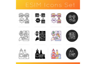 Print on Demand: Restaurant Delivery Service Icons Set Graphic Icons By bsd studio