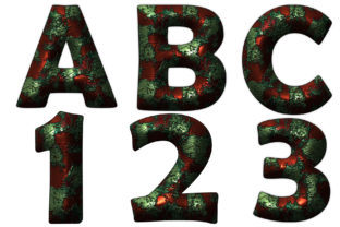 Rust Alphabet Letters Clipart PNG Graphic Illustrations By SweetDesign