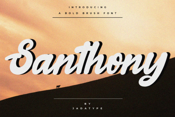 Print on Demand: Santhony Script & Handwritten Font By jadatype