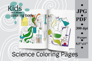 Science Coloring Pages, Coloring Book Graphic Coloring Pages & Books Kids By SunnyColoring
