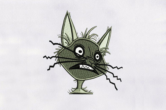 Shocking Cat Face Cats Embroidery Design By DigitEMB