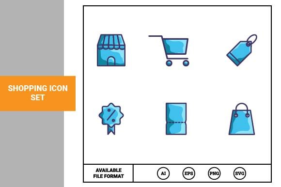 Print on Demand: Shopping Icon Set Graphic Icons By pnajlab
