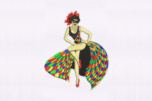 Skirt Flailing Dancer Dance & Drama Embroidery Design By DigitEMB