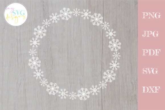 Snowflake Wreath Svg, Christmas Svg Graphic Crafts By MySVGDesigns