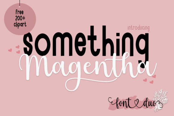 Print on Demand: Something Magentha Script & Handwritten Font By Fillo Graphic