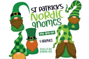 Print on Demand: St Patricks Day Nordic Gnomes Graphic Illustrations By DigitalPapers
