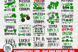 Print on Demand: St Patrick's Day SVG Bundle, Svg Files Graphic Crafts By nibaartstudio