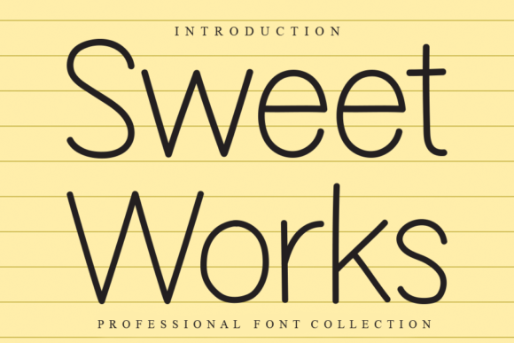 Print on Demand: Sweet Works Sans Serif Font By W26Green