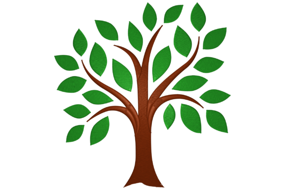 Tree Forest & Trees Embroidery Design By Digital Creations Art Studio