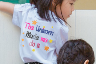 Print on Demand: Unicorn Made Me Do It Animal Quotes Embroidery Design By setiyadissi