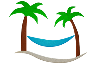 Print on Demand: Vacation Palm Tree Travel & Season Embroidery Design By embroidery dp