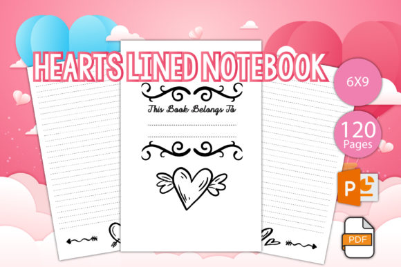Print on Demand: Valentine Lined Journal for Printable Graphic KDP Interiors By IsaraDesign