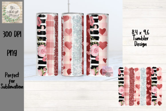 Valentine's Day Brush Stroke Tumbler Graphic Download