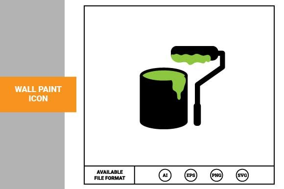 Print on Demand: Wall Paint Icon Graphic Icons By pnajlab