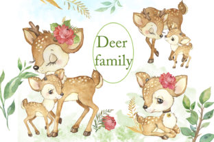Watercolor Deer.Baby Deer.Forest Animals Graphic Illustrations By EvArtPrint