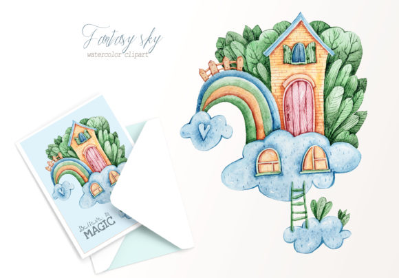 Print on Demand: Watercolor Nursery Rainbow Clipart Graphic Illustrations By Tiana Geo
