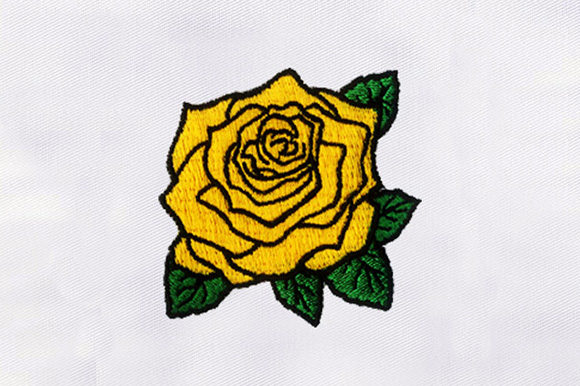 Yellow Flower Design Single Flowers & Plants Embroidery Design By DigitEMB
