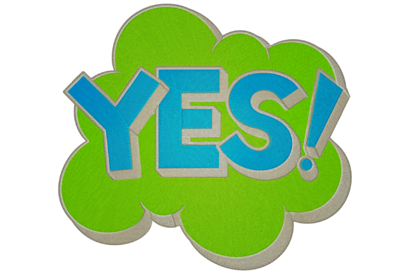Yes Logo House & Home Embroidery Design By Digital Creations Art Studio