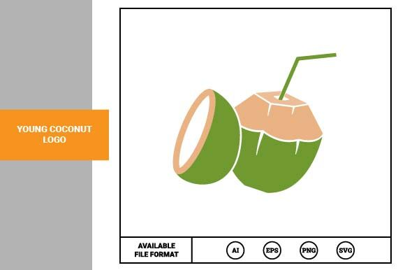 Print on Demand: Young Coconut Logo Graphic Logos By pnajlab