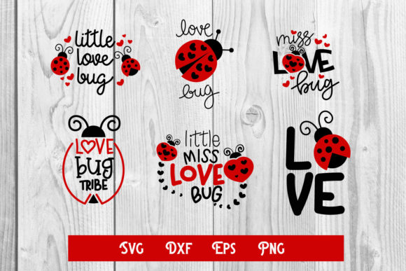 Print on Demand: Love Bug Svg, Valentine Cut File, Sublim Graphic Print Templates By dadan_pm