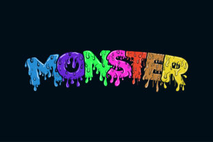 Monster Hand Drawn Lettering Graphic Logos By alexanderbautista137