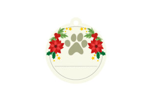 Dog Paw Ornament Christmas Craft Cut File By Creative Fabrica Crafts