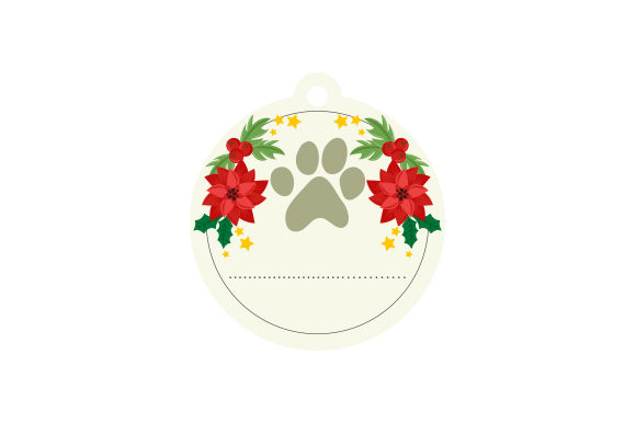 Dog Paw Ornament Cut File