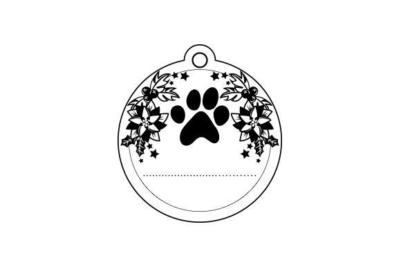 Dog Paw Ornament Cut File Download