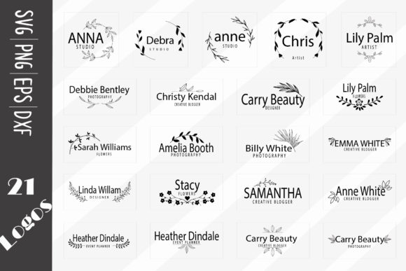 Print on Demand: 21 Floral Logos, Elegant Logos Graphic Logos By CarryBeautySVG