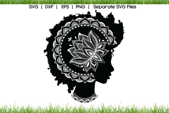 Afro Woman Hair Graphic Crafts By VectorSVGFormet