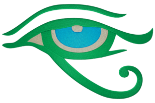 Ancient Egypt Eye of Horus Around the world Embroidery Design By Digital Creations Art Studio