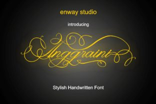 Print on Demand: Anggraini Script & Handwritten Font By enway