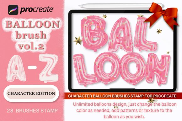 Balloon Stamp Brush for Procreate Vol.2 Graphic Brushes By eDigital Studio