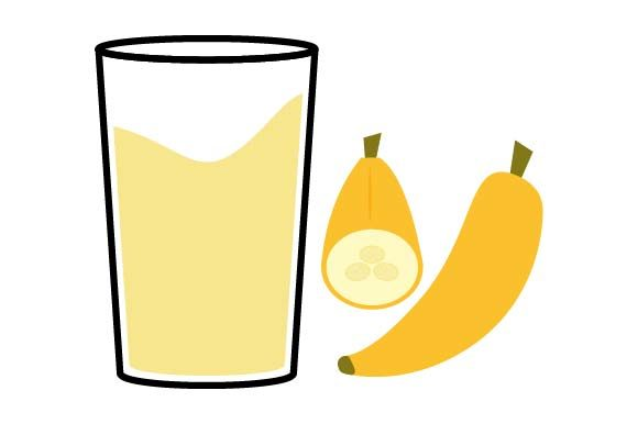 Print on Demand: Banana Juice Icon Graphic Icons By pnajlab