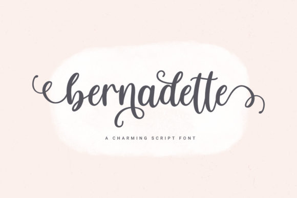Print on Demand: Bernadette Script & Handwritten Font By jimtypestudio