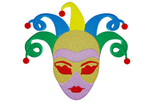 Print on Demand: Carnival Face Holidays & Celebrations Embroidery Design By embroidery dp