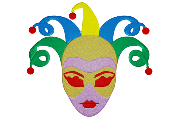 Carnival Face Holidays & Celebrations Embroidery Design By Digital Creations Art Studio