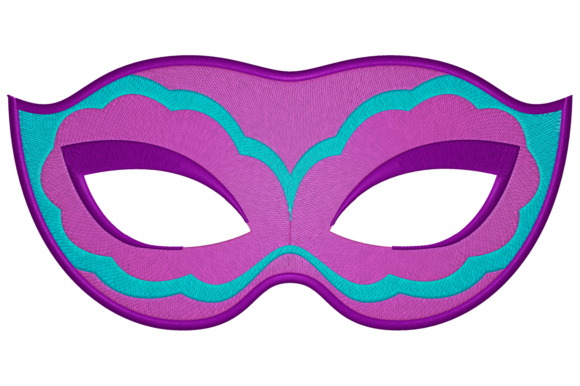 Carnival Mask Accessories Embroidery Design By Digital Creations Art Studio