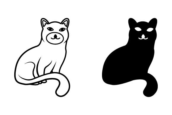 Print on Demand: Cat Icon Graphic Icons By pnajlab