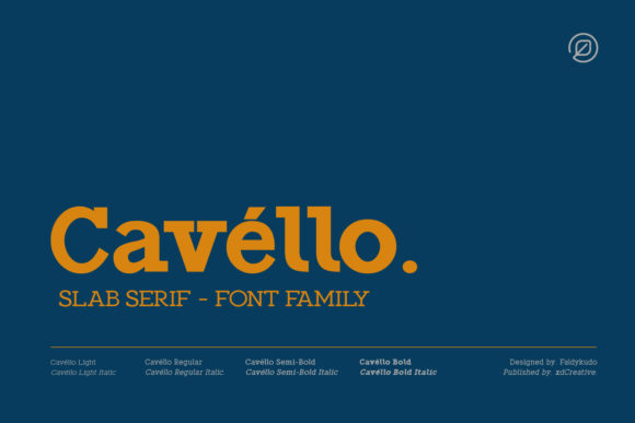 Print on Demand: Cavello Slab Serif Font By xdCreative