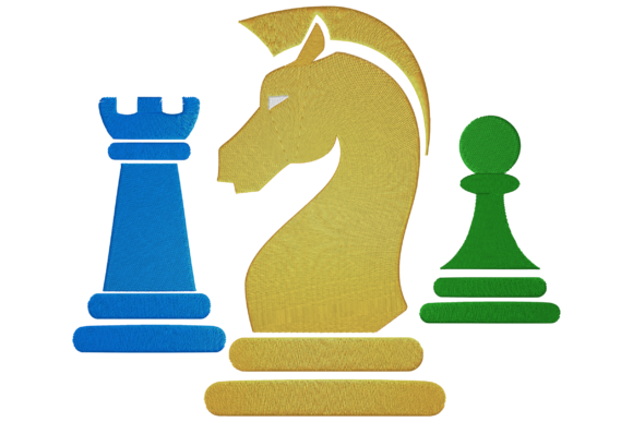 Chess Pieces House & Home Embroidery Design By Digital Creations Art Studio