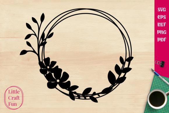 Download Circle Frame Cute Flowers SVG Cut Files