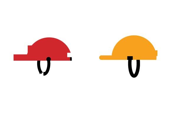 Print on Demand: Construction Helmet Icon Graphic Icons By pnajlab