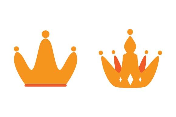 Print on Demand: Crown Logo Design Template Graphic Logos By pnajlab