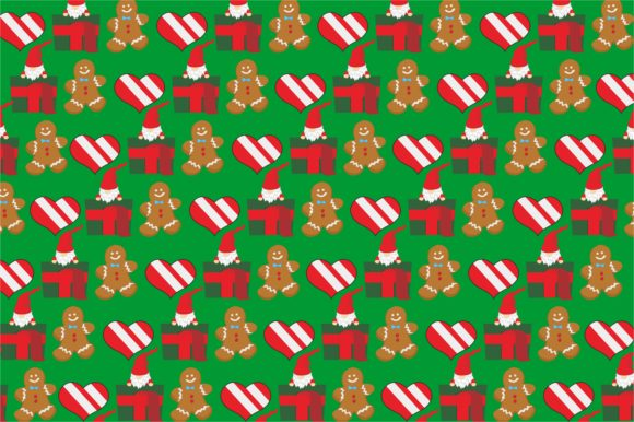 Cute Gnomes Pattern Theme Graphic
