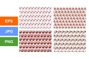 Print on Demand: Cute Snowman Pattern Theme Bundle Graphic Crafts By Arief Sapta Adjie II