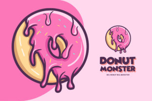 Donuts Shop Logo. Cafe or Bakery Emblem Graphic Logos By alexanderbautista137
