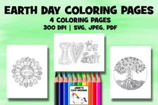 Print on Demand: Earth Day Coloring Pages Graphic Coloring Pages & Books By Janet's Cute Designs