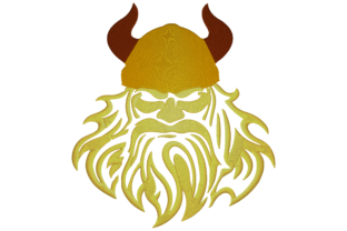 Face of Viking Warrior Around the world Embroidery Design By Digital Creations Art Studio